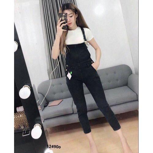 Quần yếm jean ôm dáng sexy