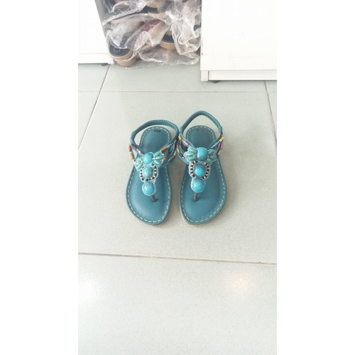 Sandal thổ cẩm màu ngọc