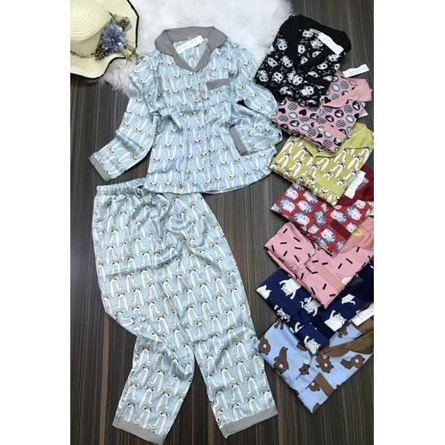 ĐB1234 - Đồ bộ nữ pijama lụa tay dài quần dài hoạt hình đẹp dễ thương - 10867356 , 11723656 , 15_11723656 , 220000 , DB1234-Do-bo-nu-pijama-lua-tay-dai-quan-dai-hoat-hinh-dep-de-thuong-15_11723656 , sendo.vn , ĐB1234 - Đồ bộ nữ pijama lụa tay dài quần dài hoạt hình đẹp dễ thương