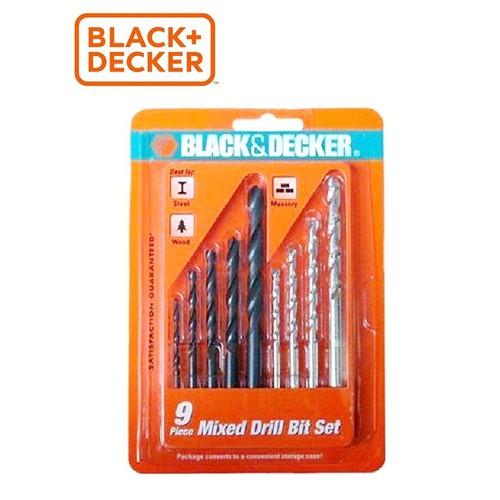 BLACK+DECKER - A8106G Hộp mũi khoan đa năng 9 chi tiết