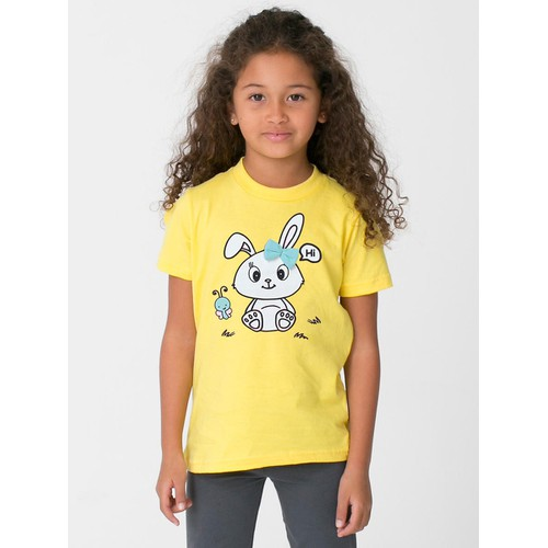 Áo thun bé gái in hình thỏ dễ thương - có 6 màu