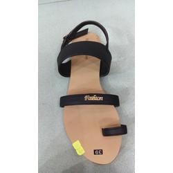 Sandal xỏ ngón nữ màu đen