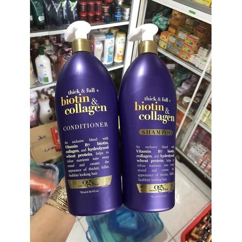 Bộ Gội Xả OGX Biotin Collagen 750ml