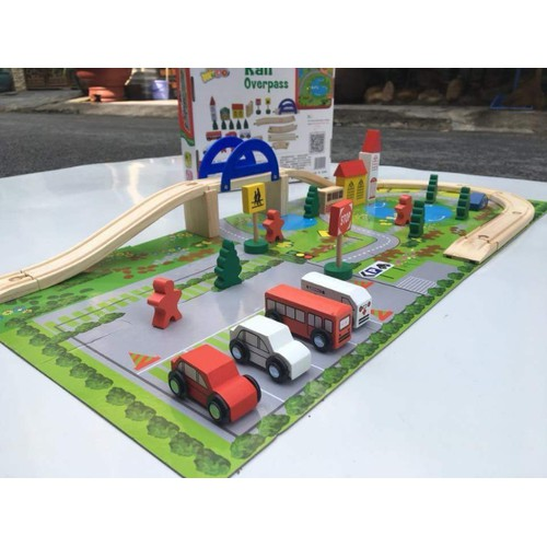 bộ ghép hình mô hình giao thông