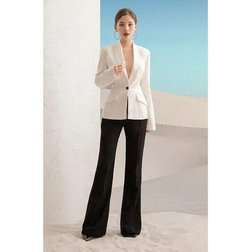 Áo quần kiểu áo vest rộng tay dài quần suông