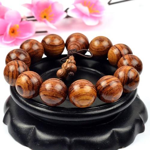 Đích thực lớn-leaf vàng lê bracelet fine gỗ đàn hương hạt bracelet