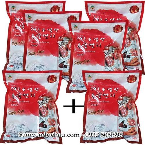 COMBO mua 5 Tặng  1 Kẹo Hồng Sâm Không Đường KGS 300g