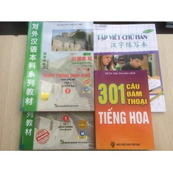 Combo 4 cuốn giáo trình Hán Ngữ tập 1 tập viết và 301 câu đàm thoại