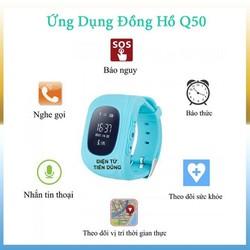 Đồng Hồ Định Vị Trẻ Em Q50 Chống Nước Cao Cấp GPS - chuẩn IP67