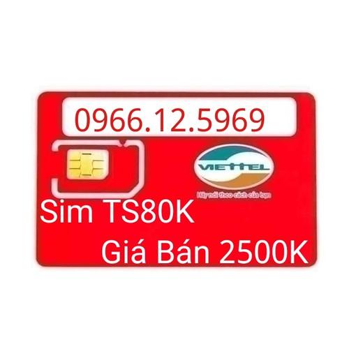 Sim 10 số viettel trả sau 0966-12-5969 cam kết 80K tháng