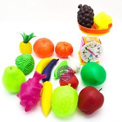 Bộ đồ chơi các loại trái cây và cân đồng hồ bằng nhựa Vĩnh Phát