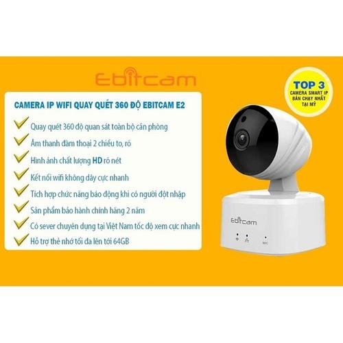 Camera IP WIFI 1MP xoay 4 chiều EBITCAM E2 - bảo hành 2 năm - 5393700 , 11756823 , 15_11756823 , 1150000 , Camera-IP-WIFI-1MP-xoay-4-chieu-EBITCAM-E2-bao-hanh-2-nam-15_11756823 , sendo.vn , Camera IP WIFI 1MP xoay 4 chiều EBITCAM E2 - bảo hành 2 năm
