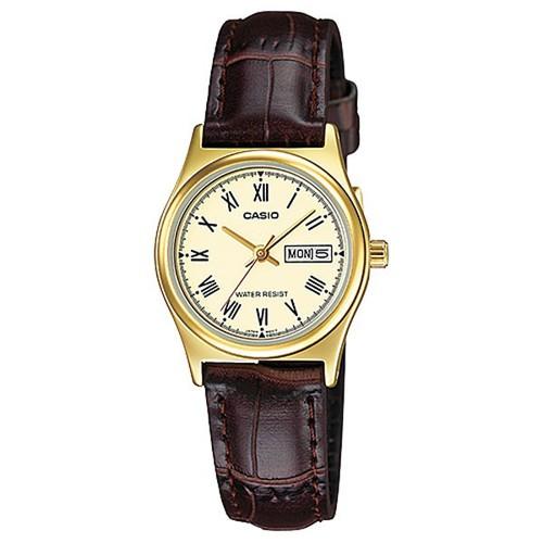 Đồng hồ Casio nữ dây da LTP-V006GL-9BUDF