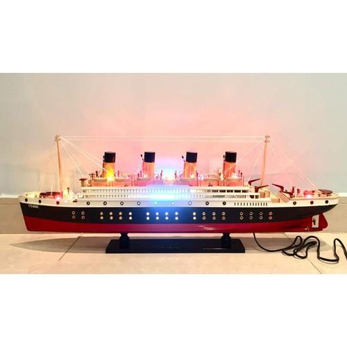Mô hình Du thuyền Gỗ Titanic - Thân 100cm - Đèn LED màu