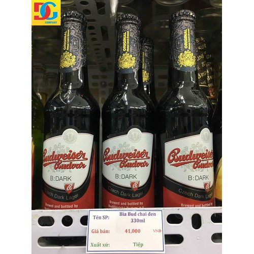 Bia Budweiser Dark 330ml-Chai Tiệp