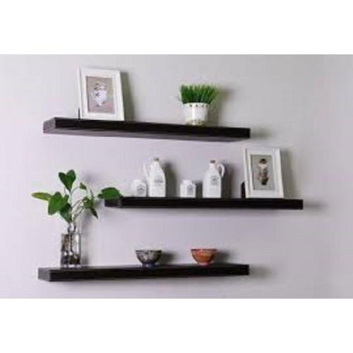 Kệ treo tường - giá treo tường đẹp - kệ để đồ 3 thanh đen 50cm sâu 13