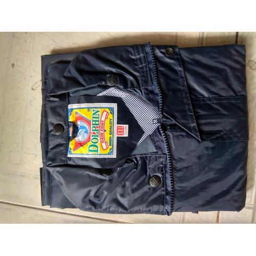 Áo mưa bộ vải dù cho nam và nữ sz 4XL 90-100kg