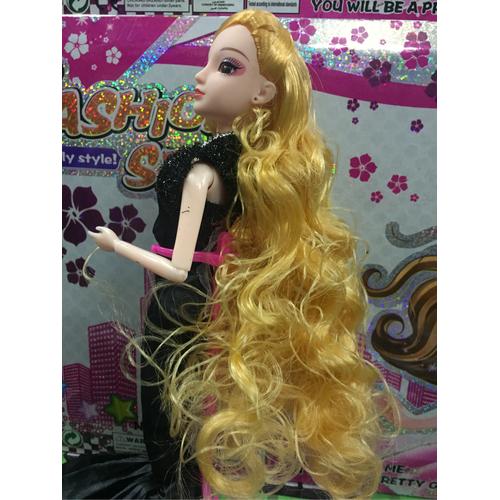 đầu búp bê - tóc vàng quăn và dài