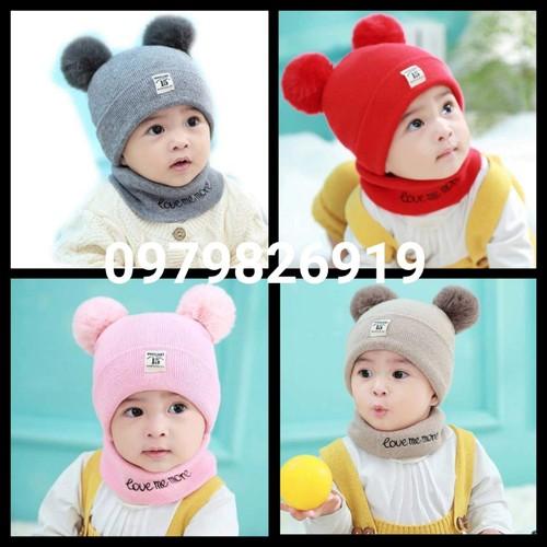 Sét mũ len khăn ống cho bé trai và gái cực xinh