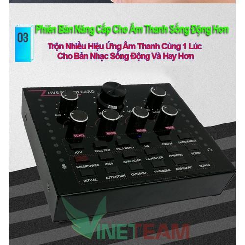 Sound card thu âm V12 có AutoTone Chất Lượng Cao