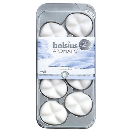 Hộp 8 sáp thơm Bolsius BOL6130 Fresh Linen Hương ban mai