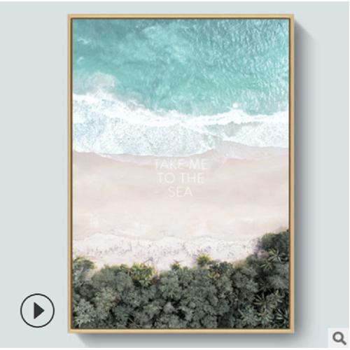 Tranh treo tường, tranh biển xanh, tranh canvas