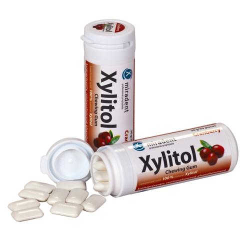 hàng ĐỨC-Kẹo xylitol miradent Cranberry- nam việt quất