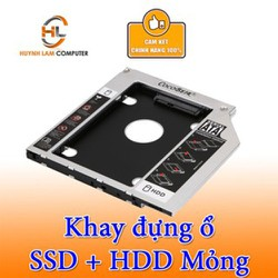 Caddy Bay 9.5mm SATA 3.0 cho laptop