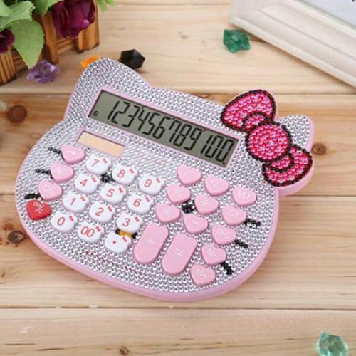 Máy tính hello kitty đính đá - 5379814 , 11740950 , 15_11740950 , 190000 , May-tinh-hello-kitty-dinh-da-15_11740950 , sendo.vn , Máy tính hello kitty đính đá