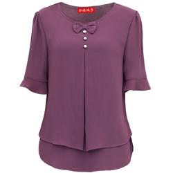 Áo trung niên hai lớp cao cấp (thời trang trung niên Anitagreen) top2611