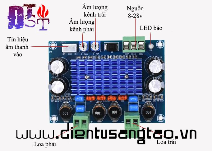 Mạch khuếch đại âm thanh TPA3116D2 2x120w