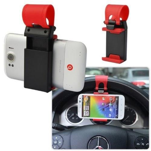 Giá đỡ điện thoại kẹp vô lăng trên xe hơi tiện lợi