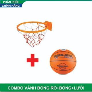 Combo Vành bóng rổ 35 cm và bóng rổ số 6 tặng kim lưới đựng bóng - 35 cm và bóng rổ số 6 thumbnail