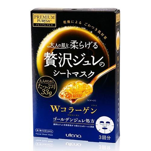 Mặt Nạ Utena Thạch Vàng  Collagen 3 Miếng