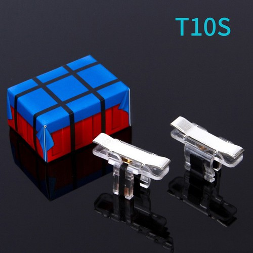 Bộ 2 Nút Bấm Chơi Game PUBG, ROS .. T10S Bạc Cảm Ứng Trên Điện Thoại