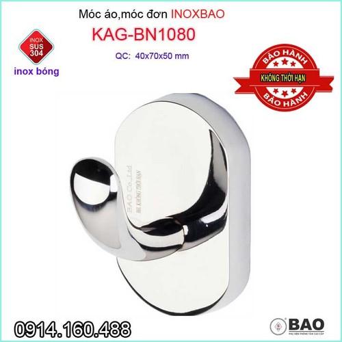 Móc treo đồ cao cấp Inox Bảo, móc áo Inox SUS304 KAG-BN1080