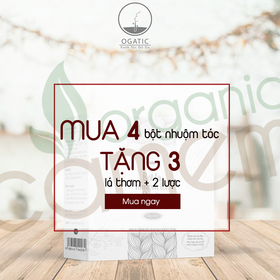 Combo 4 hộp thuốc nhuộm tóc bạc Ogatic tặng 1 lá thơm 80k  - M4F3