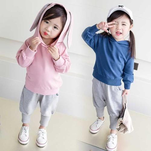 Bộ quần áo tai thỏ đáng yêu cho bé
