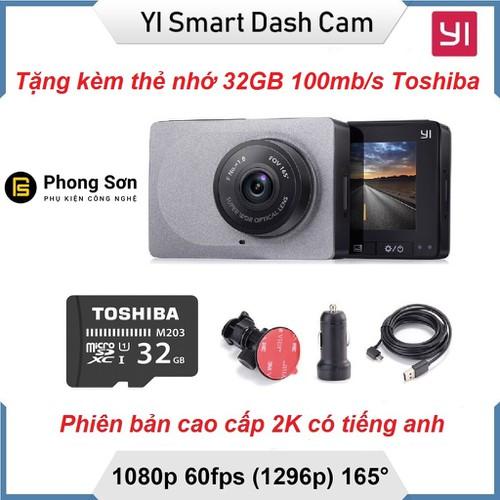 Camera hành trình  YI Car 1296p Tặng 32GB ,Bản có tiếng anh