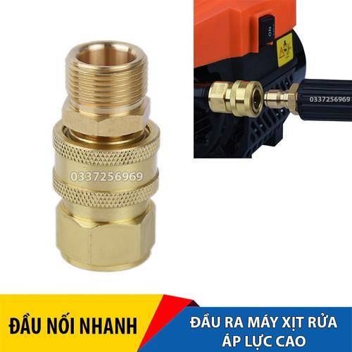 Bộ nối nhanh đầu nước ra máy rửa xe áp lực cao, máy xịt rửa cao áp