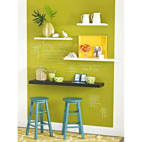 Kệ gỗ trang trí - kệ treo tường 4 thanh ngang đen trắng