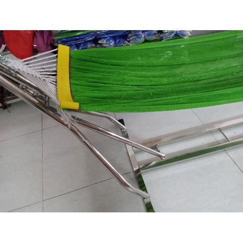 bộ võng xếp khung inox bao gồm lưới võng