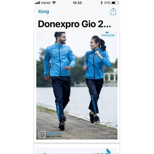 bộ quần áo gió thể thao nam nữ DONEXSPRO
