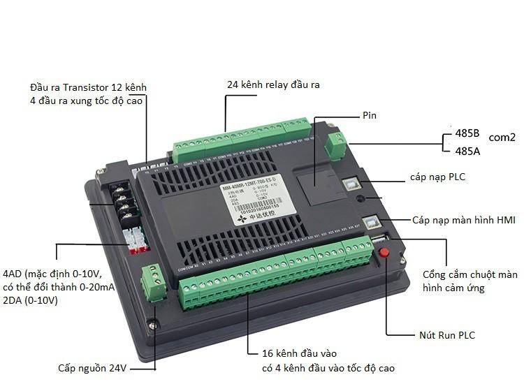 Màn hình YKHMI kết hợp PLC FX1N 40MR 12MT 2