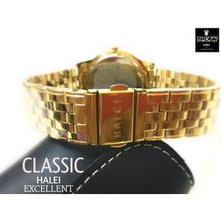 Đồng hồ cặp đôi dây thép Halei Gold platium sang trọng, huyền bí - HL15 5