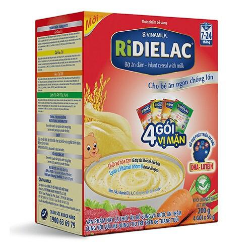 Bột ăn dặm Ridielac  4 vị mặn