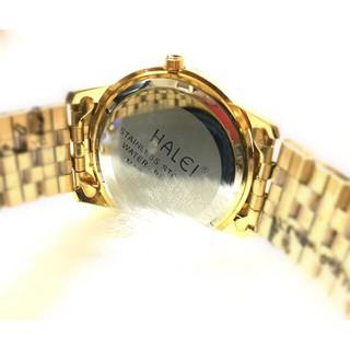 Đồng hồ cặp đôi dây thép Halei Gold platium sang trọng, huyền bí - HL15 4