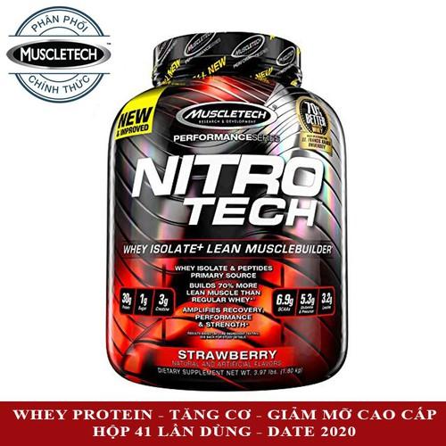Sữa tăng cơ cực mạnh Nitro Tech của MUSCLETECH hương Strawberry hộp 41 lần dùng hỗ trợ tăng cơ giảm mỡ, tăng sức bền sức mạnh đốt mỡ giảm cân - 11160679 , 11797718 , 15_11797718 , 1600000 , Sua-tang-co-cuc-manh-Nitro-Tech-cua-MUSCLETECH-huong-Strawberry-hop-41-lan-dung-ho-tro-tang-co-giam-mo-tang-suc-ben-suc-manh-dot-mo-giam-can-15_11797718 , sendo.vn , Sữa tăng cơ cực mạnh Nitro Tech của MU