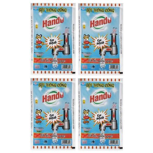 Bộ 4 gói bột thông cống cực mạnh 100g nội địa Hando - 10868759 , 11786899 , 15_11786899 , 160000 , Bo-4-goi-bot-thong-cong-cuc-manh-100g-noi-dia-Hando-15_11786899 , sendo.vn , Bộ 4 gói bột thông cống cực mạnh 100g nội địa Hando