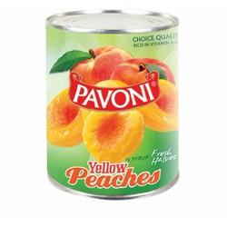 Đào tươi ngâm siro hiệu Pavoni- hộp 820g